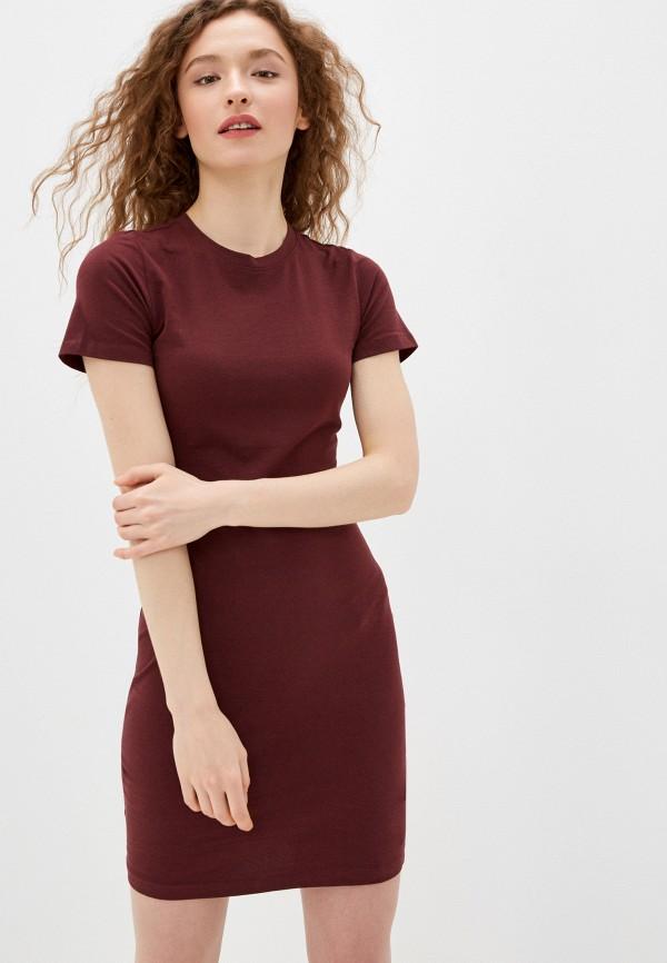 женское платье-футболки befree, бордовое