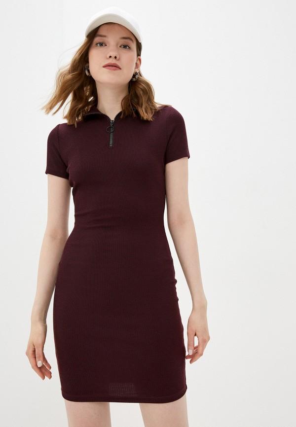 женское повседневные платье befree, бордовое