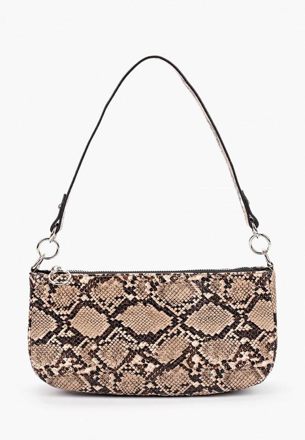 женская сумка через плечо befree, коричневая
