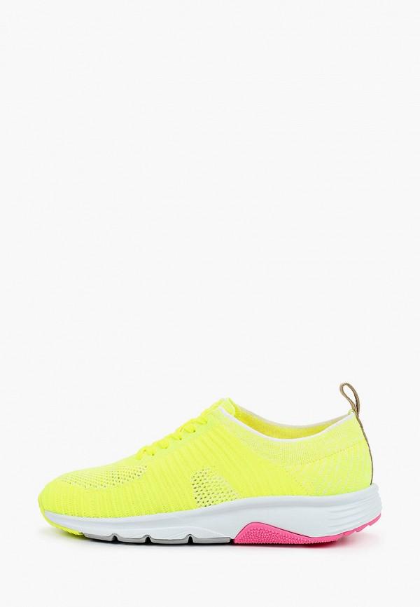 женские низкие кроссовки camper, желтые