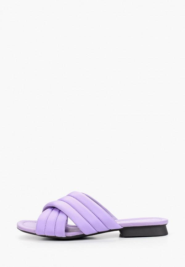 женское сабо camper, фиолетовое