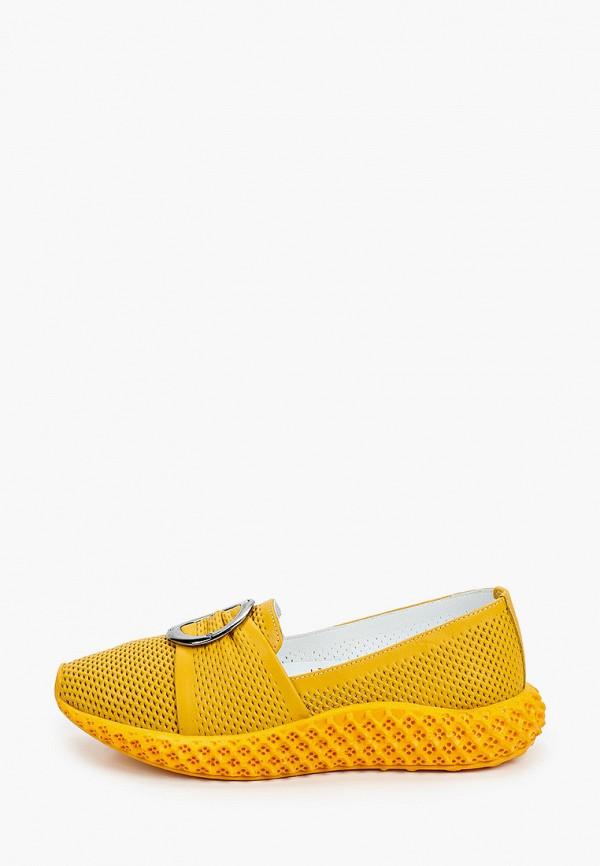 женские туфли с закрытым носом ascalini, желтые