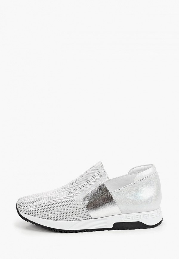 женские низкие кроссовки ascalini, серебряные
