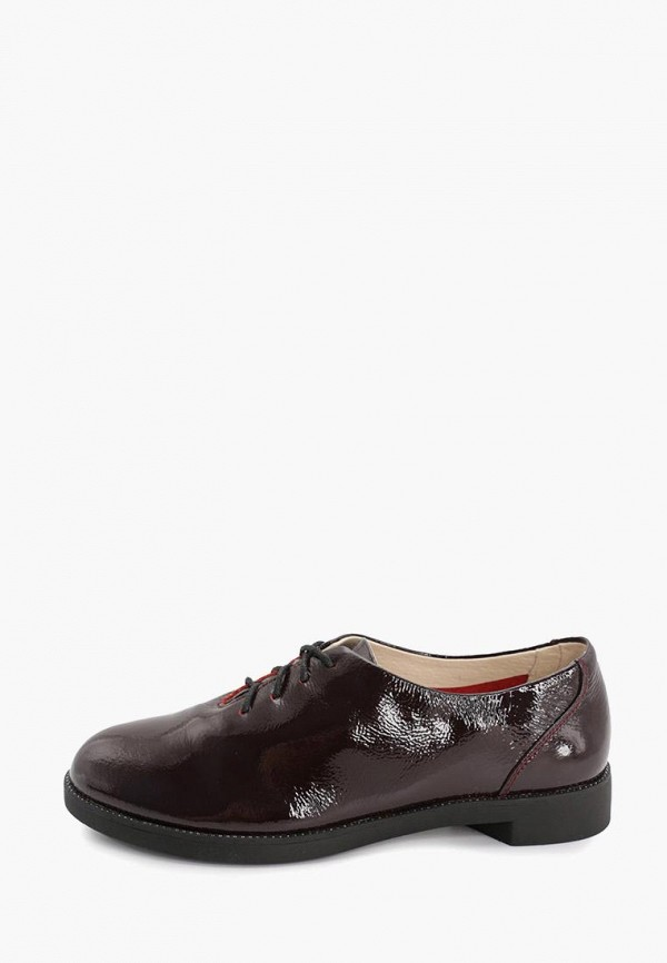 женские ботинки-оксфорды makfine, бордовые