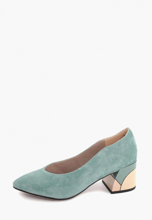женские туфли с закрытым носом makfine, голубые
