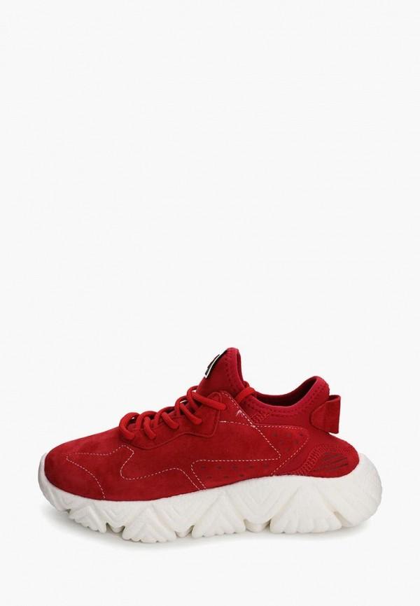 женские низкие кроссовки makfine, красные