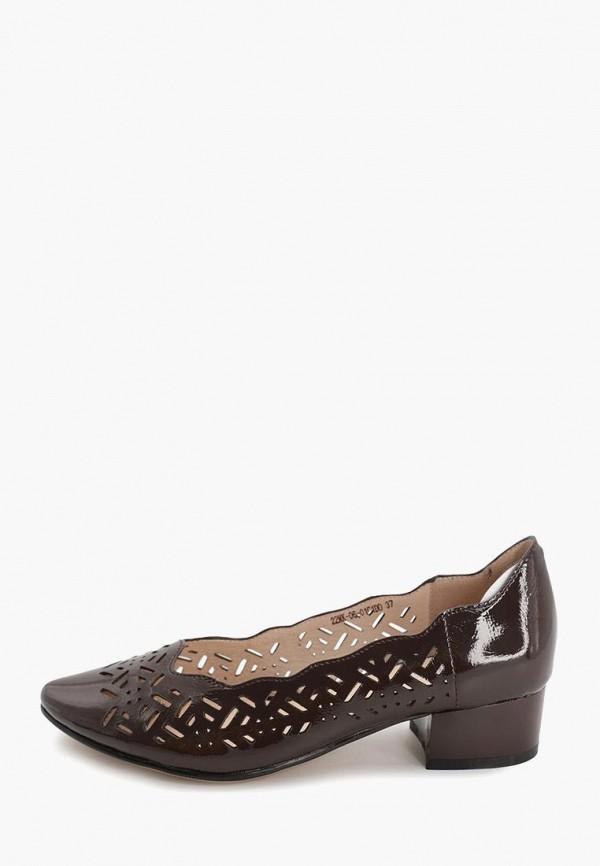 женские туфли с закрытым носом makfine, коричневые