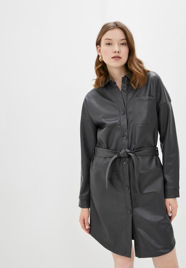 женское платье-рубашки sela, серое