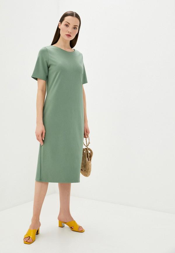 женское платье-футболки sela, зеленое