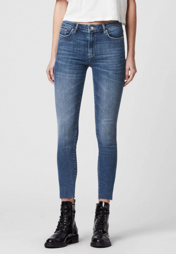 женские джинсы allsaints, синие