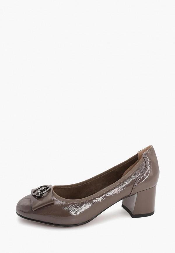 женские туфли с закрытым носом makfine, серые
