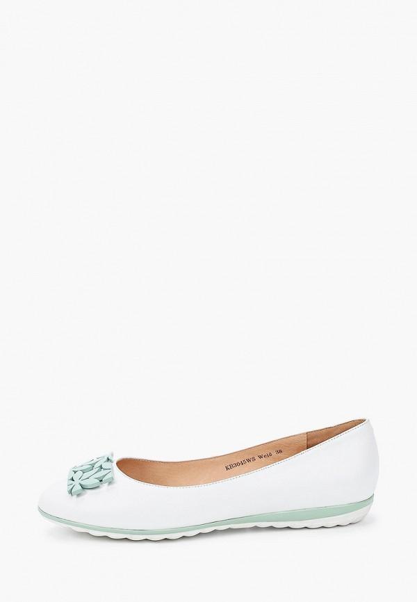 женские балетки king boots, белые
