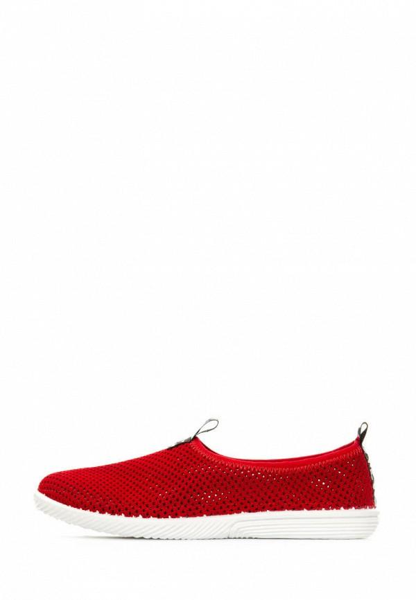 женские слипоны tellus, красные