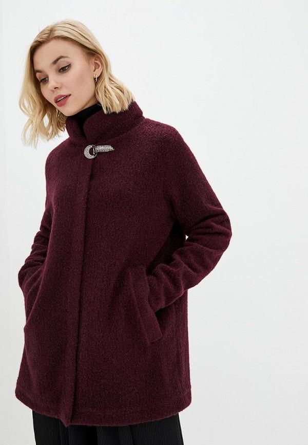 женское пальто modniy oazis, бордовое