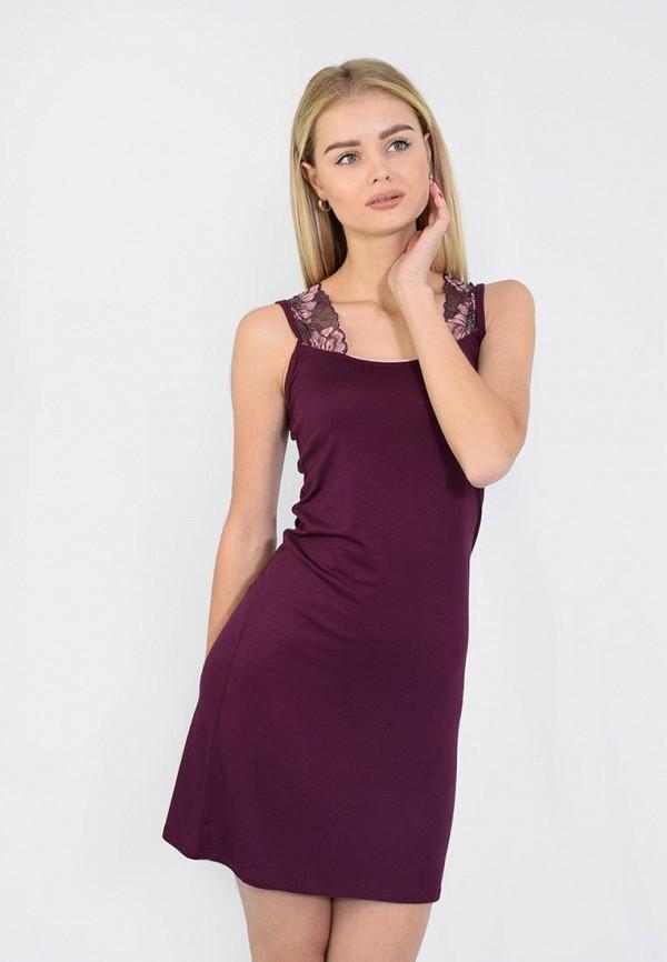женские сорочка ночная n.el, бордовые