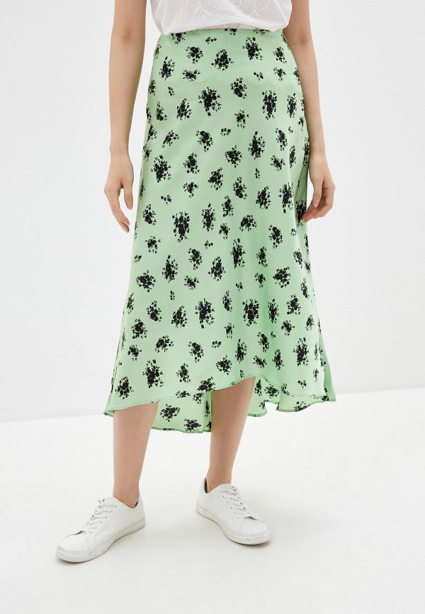 женская юбка-трапеции befree, зеленая