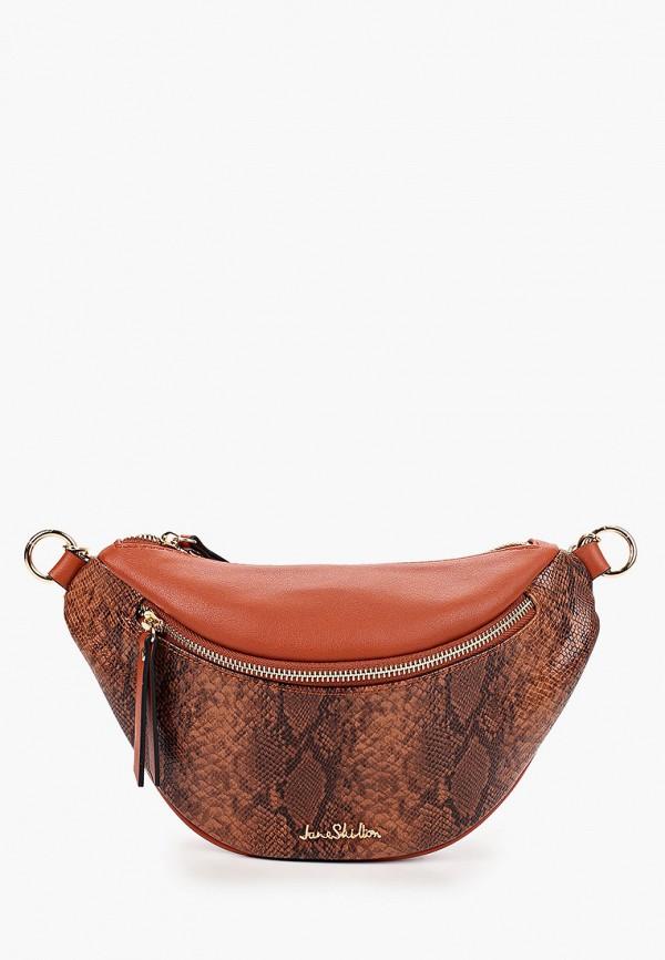 женская поясные сумка jane shilton, коричневая
