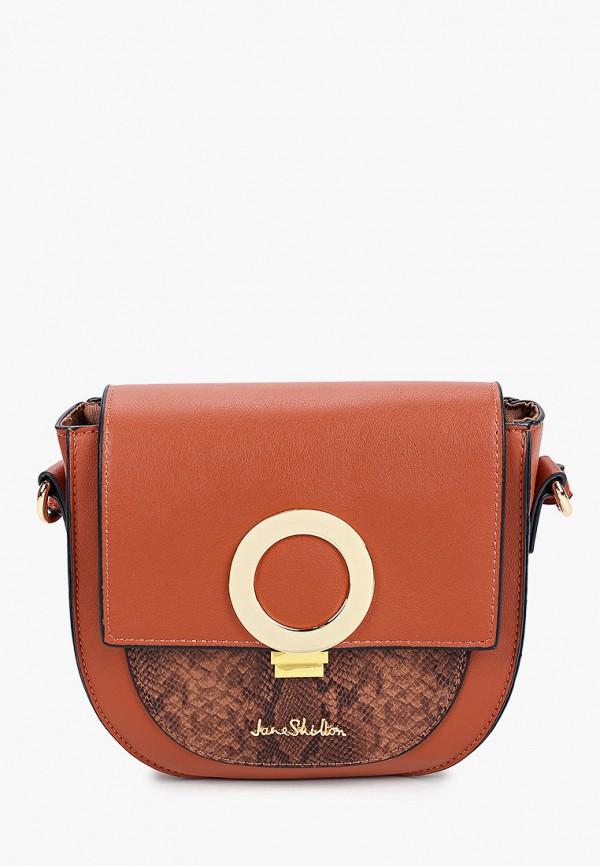 женская сумка через плечо jane shilton, коричневая