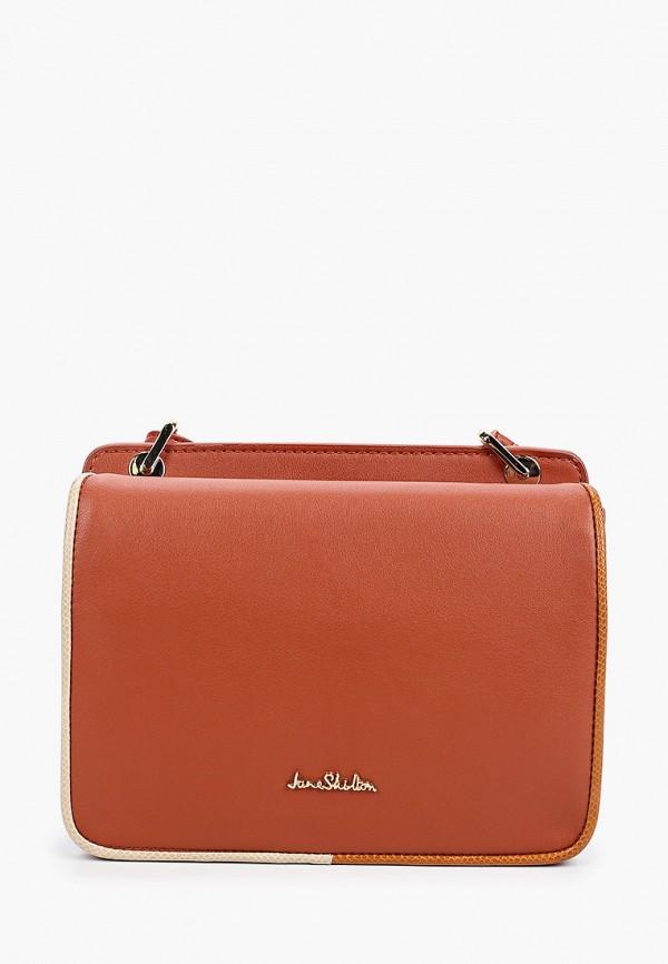 женская сумка через плечо jane shilton, оранжевая
