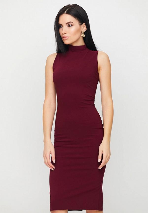 женское платье-футляр karree, бордовое