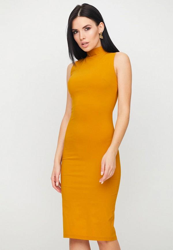 женское платье-футляр karree, желтое