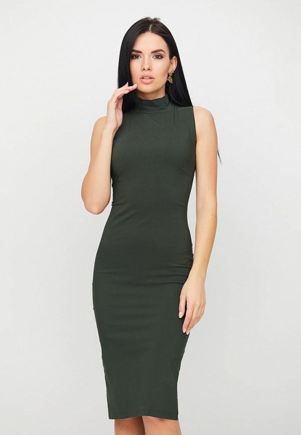 женское платье-футляр karree, хаки