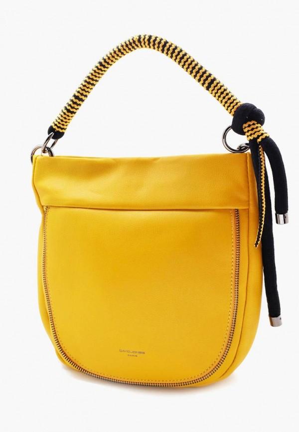 женская сумка david jones, желтая