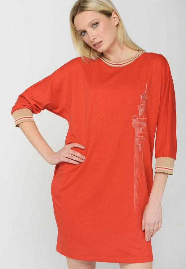 женское повседневные платье ricamare, красное