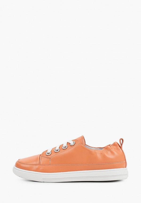 женские низкие кеды inario, оранжевые