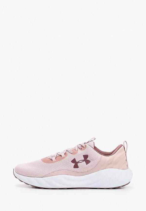 женские кроссовки under armour, розовые