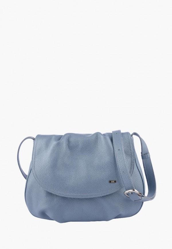 женская сумка через плечо esse, голубая