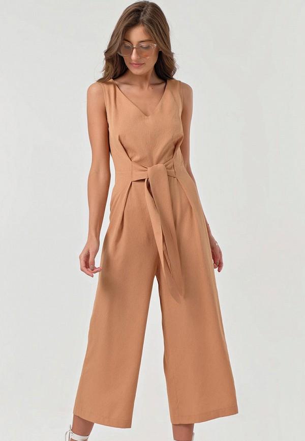 женский комбинезон с брюками fly, бежевый