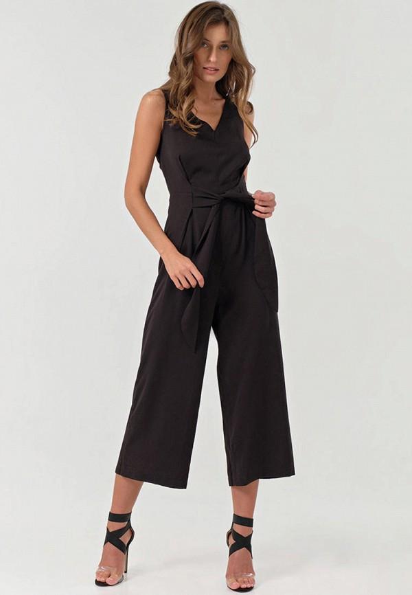 женский комбинезон с брюками fly, черный