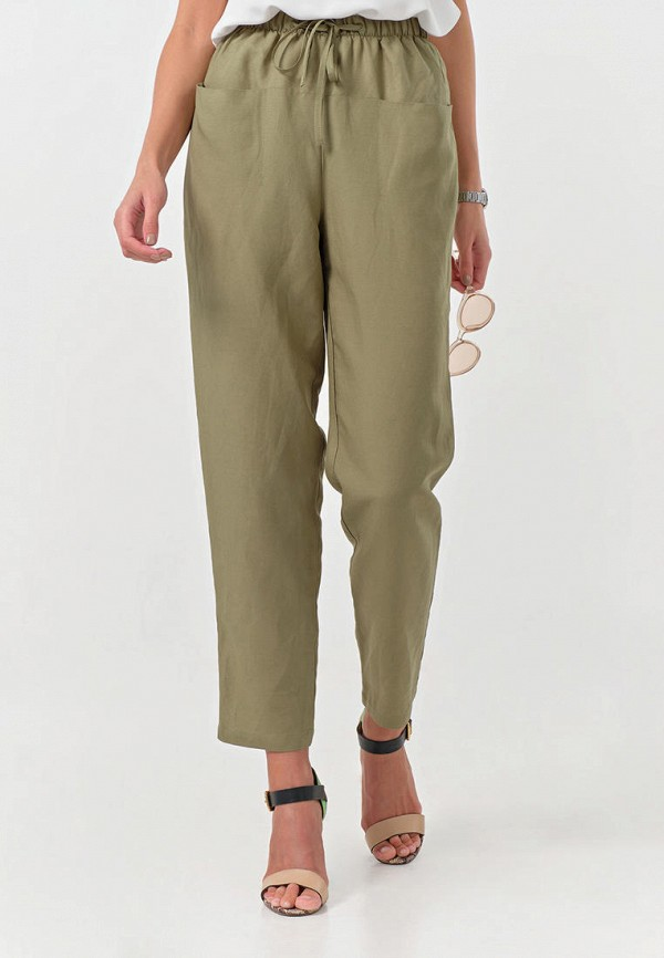 женские повседневные брюки fly, хаки