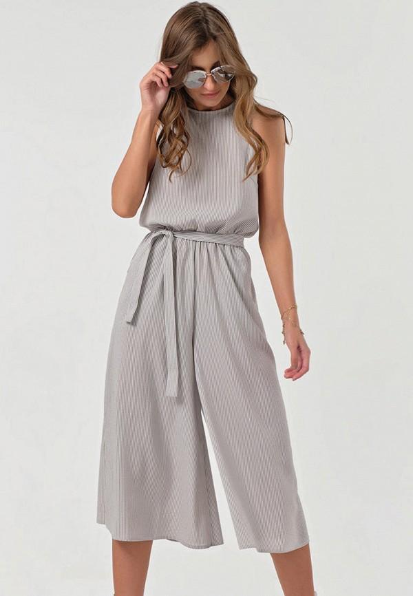 женский комбинезон с брюками fly, серый