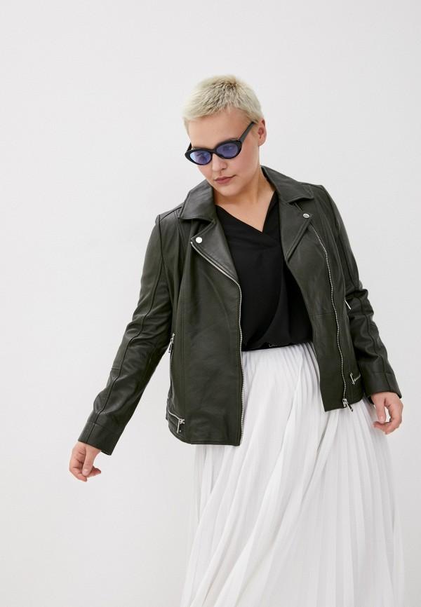 женская куртка косухи le monique, зеленая