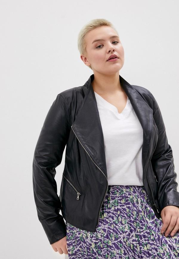 женская кожаные куртка le monique, синяя