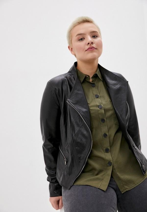 женская куртка косухи le monique, черная