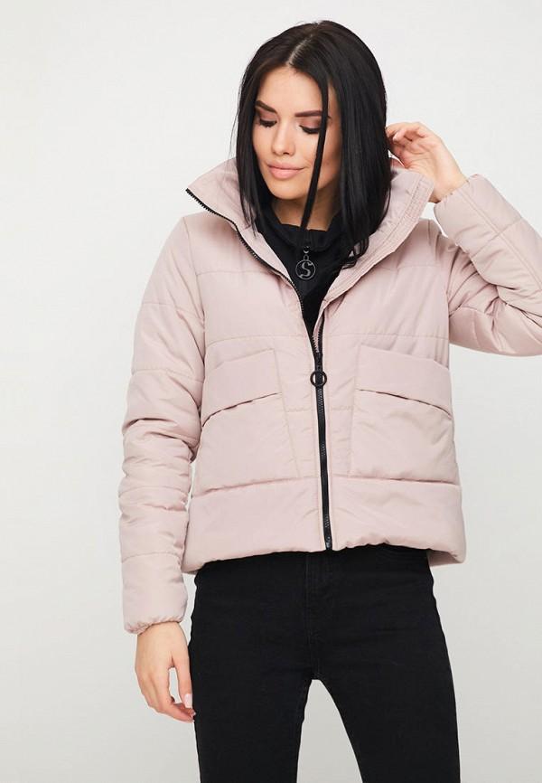 женская куртка karree, розовая