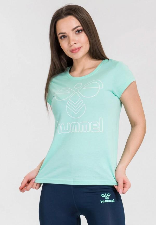 женская футболка hummel, бирюзовая