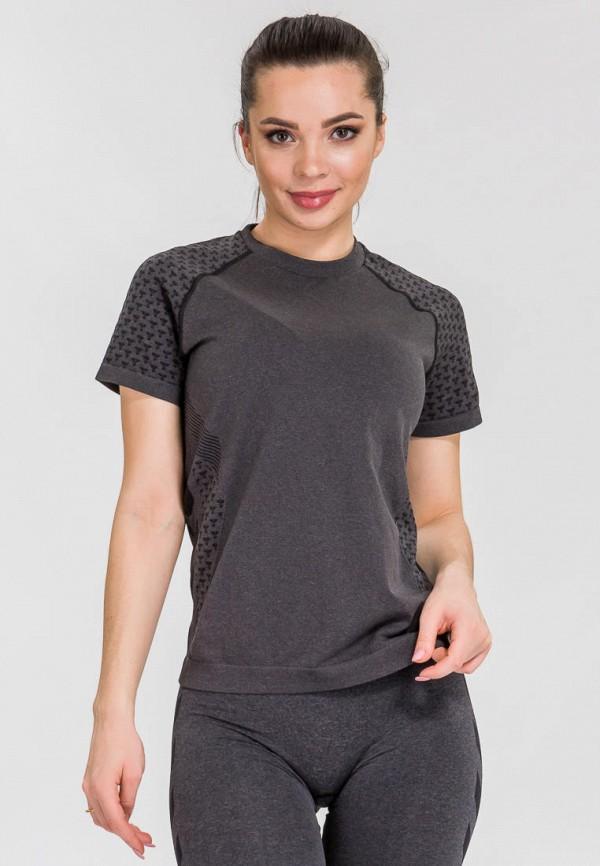 женская футболка hummel, серая