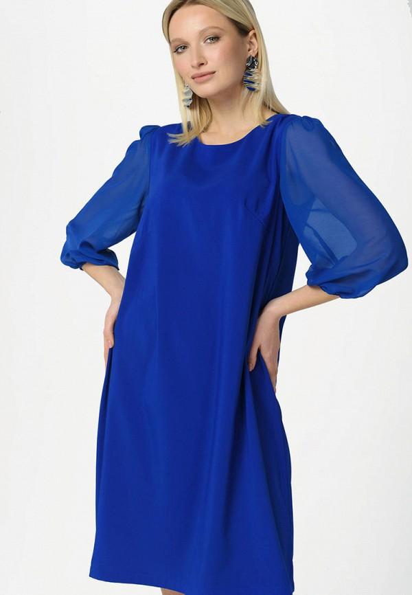 женское вечерние платье ricamare, синее
