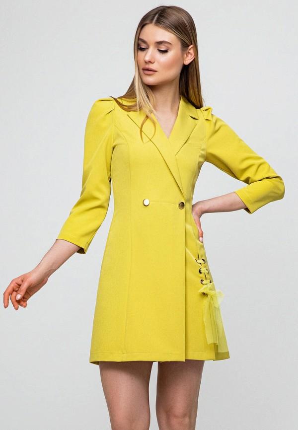 женское платье itelle, желтое