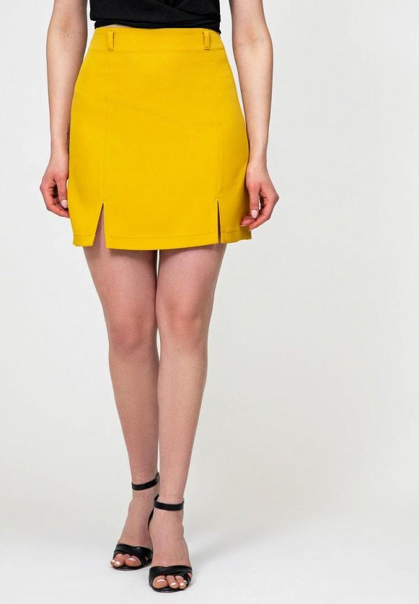 женская зауженные юбка itelle, желтая