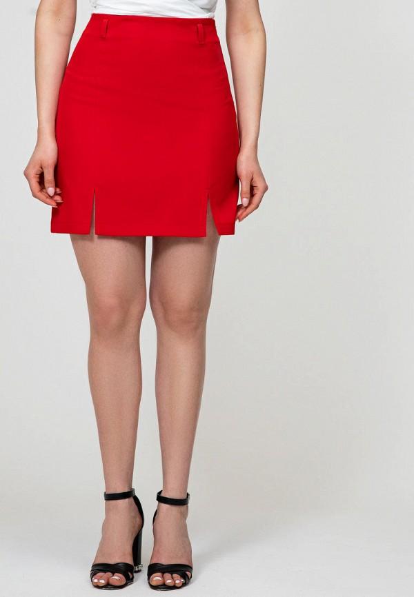 женская зауженные юбка itelle, красная