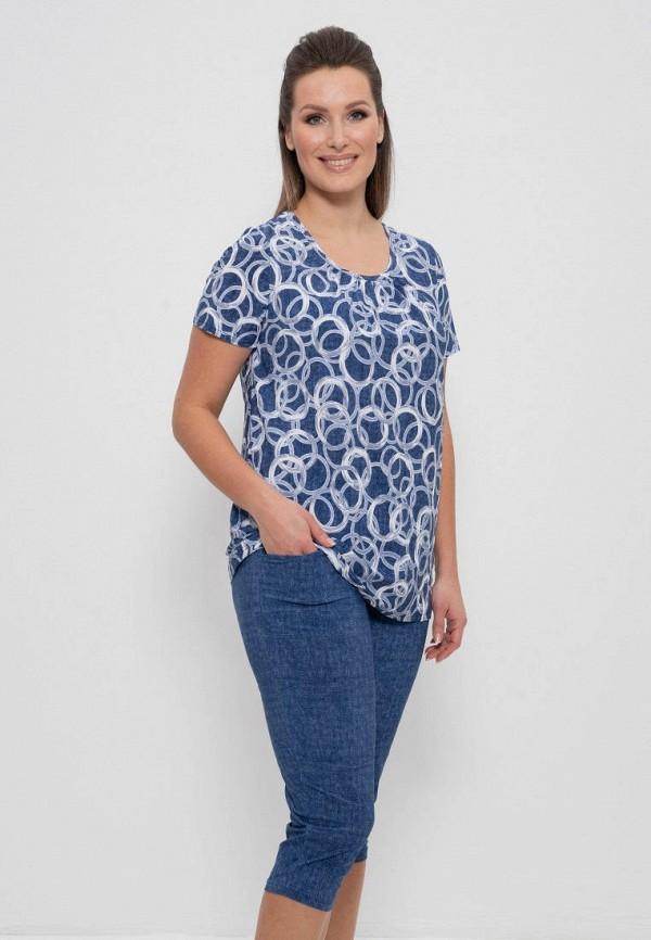 женская футболка cleo, синяя