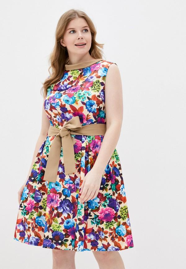 женское повседневные платье adzhedo, разноцветное