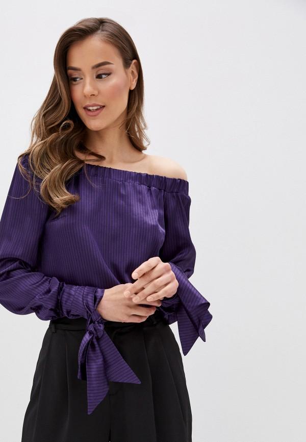 женская блузка с открытыми плечами adzhedo, фиолетовая