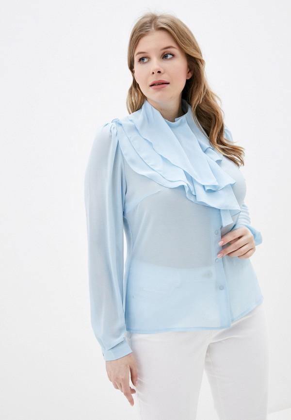 женская блузка adzhedo, голубая