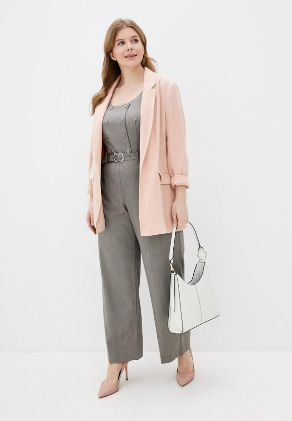 женский комбинезон с брюками adzhedo, серый